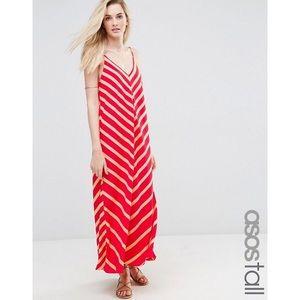 ASOS Tall Chevron Stripe Maxi Dress